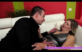 Saggytits granny pounded away from chunky unearth